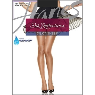 Hanes Silk Reflections Reinforced Toe Pantyhose - ab
