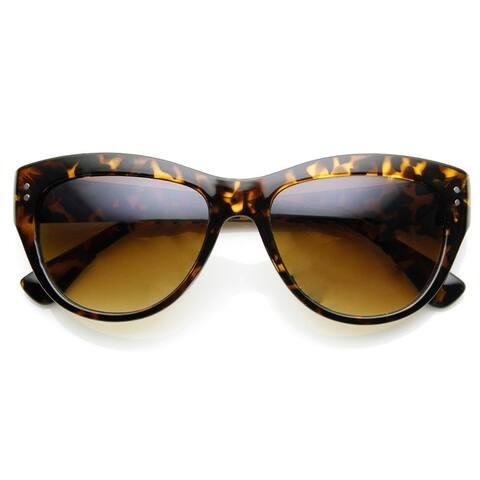 Womens Fashion Riveted Mid Sized Cateye Sunglasses