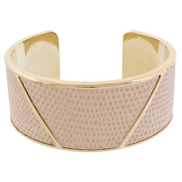 Stamerra LIZAR AVARIO Ivory Genuine Leather Cuff Bracelet