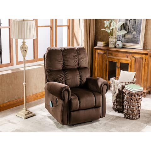 Electric lift recliner with heat therapy,massage,padded arms and back