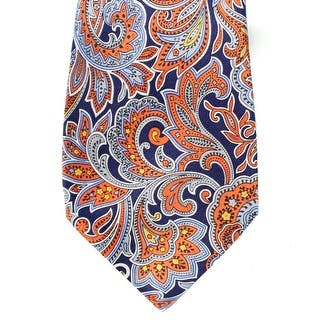 Countess Mara NEW Blue Orange Men's Classic Silk Paisley Print Neck Tie|https://ak1.ostkcdn.com/images/products/is/images/direct/11f9b946744e22896e99cbcdc7a4d1753d8cd338/Countess-Mara-NEW-Blue-Orange-Men%27s-Classic-Silk-Paisley-Print-Neck-Tie.jpg?impolicy=medium