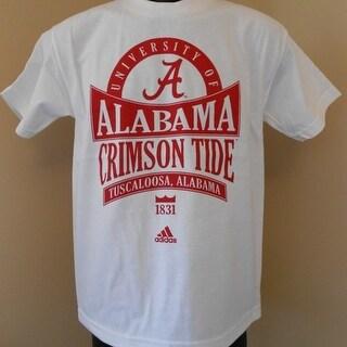Alabama Crimson Tide YOUTH MEDIUM M 10 12 Adidas Shirt
