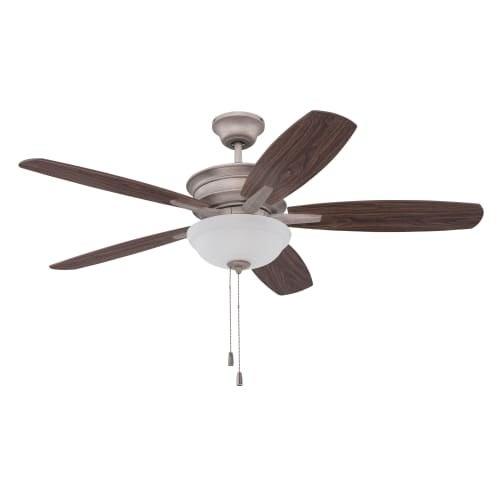 "Ellington Fans PNB52 Penbrooke 52"" 5 Blade Hanging Indoor Ceiling Fan with Reversible Motor, Blades, Light Kit and Down Rod"
