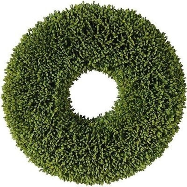 """11"""" Decorative Artificial Two Tone Green Botanical Spring Wreath - Unlit"""