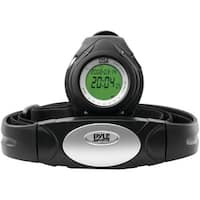 PYLE PRO PHRM38BK Heart Rate Monitor Watch with Minimum, Average & Maximum Heart Rate (Black)