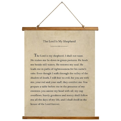 THE LORD IS MY SHEPHERD Scroll Tapestry by Kavka Designs - 26X36