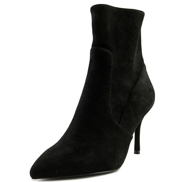 Nine West Cadence Women Pointed Toe Canvas Black Ankle Boot