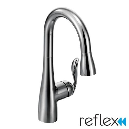 Moen 5995 Single Handle Pulldown Spray Bar Faucet with Reflex Technology from the Arbor Collection