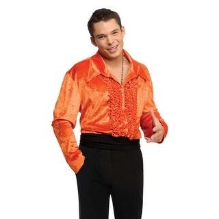 Rubies Velvet Disco Shirt (Orange) - Orange (2 options available)