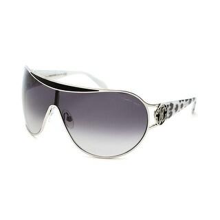 Roberto Cavalli Women's Marotiri Sunglasses Silver/White Leopard - Small