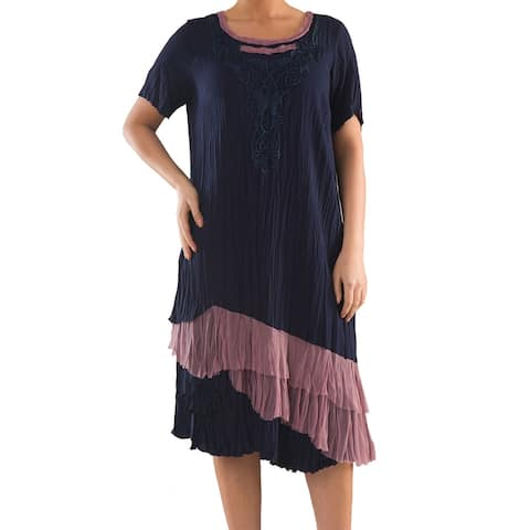 Romantic Dress with Layers - Sizes 14, 16, 18 & 20 - Plus Size Clothing - La Mouette Collection