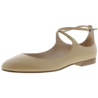 Via Spiga Womens Yovela Ballet Flats Criss-Cross Leather