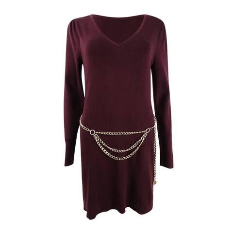INC International Concepts Women's Chain-Belt Sweater Tunic
