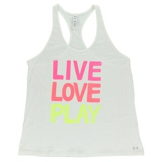 Under Armour Womens Live Love Play Tank Top White - white/multi color - Extra Large