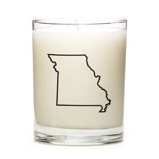 State Outline Soy Wax Candle, Missouri State, Peach Belini
