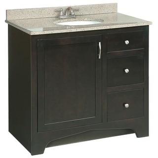 Avanity madison 36 inch single vanity in light espresso for Bathroom cabinets ventura