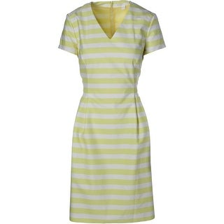 Boss Womens Striped Short Sleeves Wear to Work Dress - 8