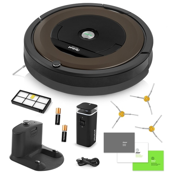 iRobot Roomba 890 Vacuum Cleaning Robot + Dual Mode Virtual Wall Barrier + 3 Extra Side Brushes + Extra Filter + More