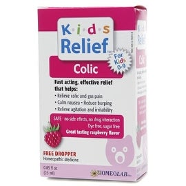 Homeolab USA Kids Relief Colic Drops, Ages 0-9, Raspberry 0.85 oz