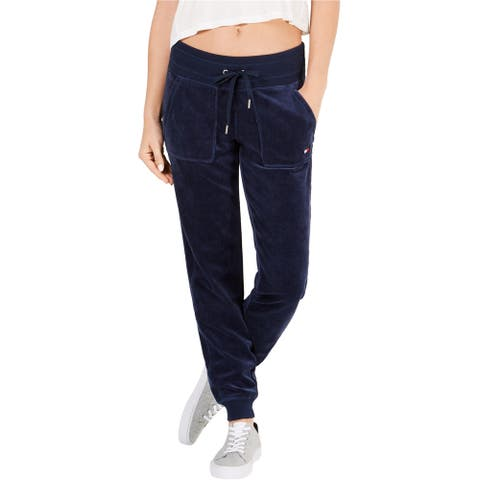 Tommy Hilfiger Womens Velour Athletic Jogger Pants