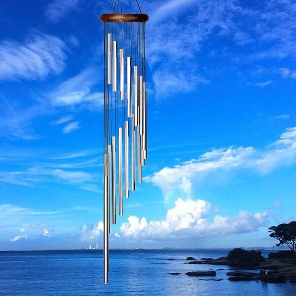 Woodstock Habitats Rainfall Silver Wind Chimes 31 Inch