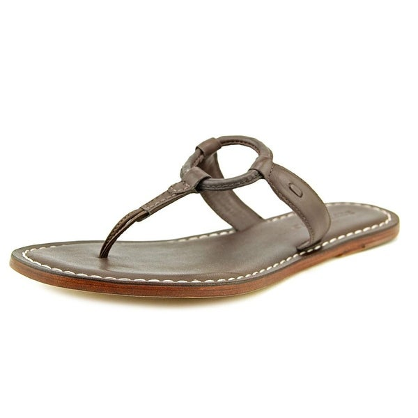 Bernardo Matrix Flat Open Toe Leather Flip Flop Sandal