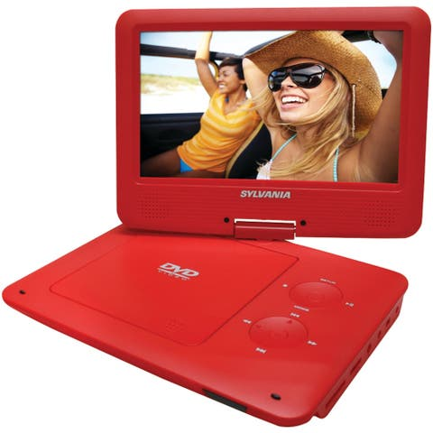 Sylvania sdvd9020b-red 9 portable dvd player with 5-hour battery (red)