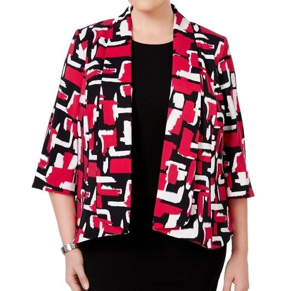 56d493f75bf7d Kasper NEW Pink Women  x27 s Size 16W Plus Open Front Shawl Collar Jacket