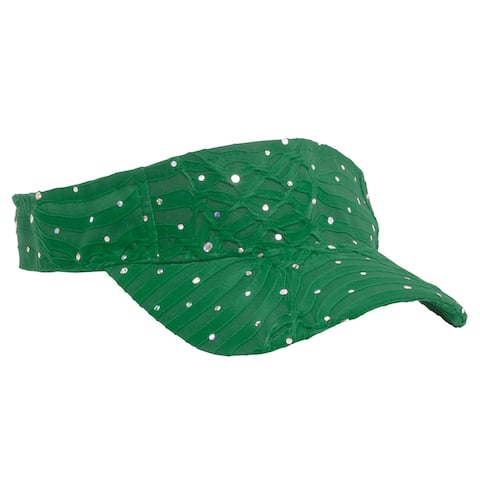 Glitter Sequin Visor - Green