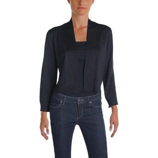 Calvin Klein Womens Shrug Sweater Shimmer Knit