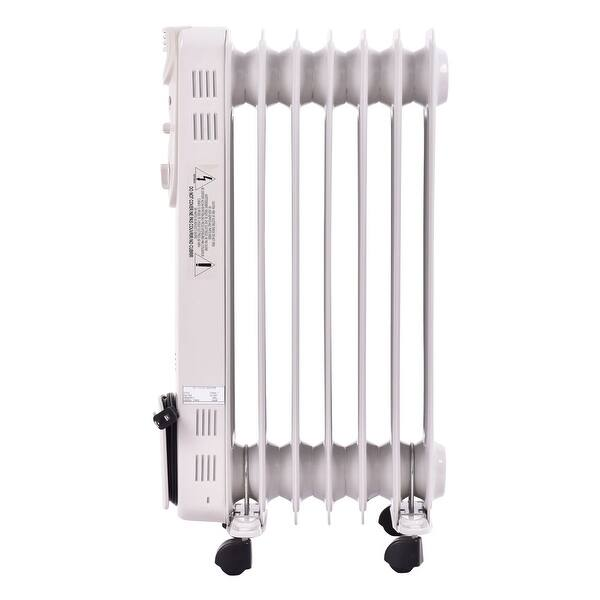 Shop Costway 1500w Electric Oil Filled Radiator Space Heater 5 Fin On Sale Overstock 18216178