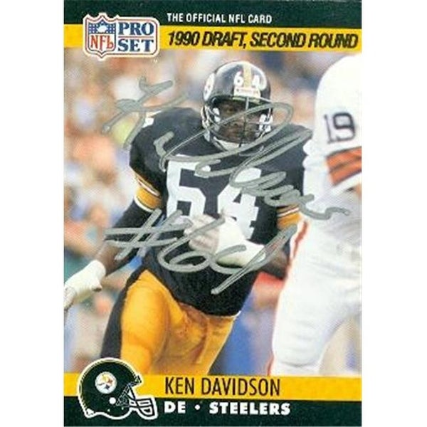 1dba58719ee Shop Pittsburgh Steelers 1990 Pro Set No. 712 Ken Davidson ed ...