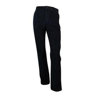 Nautica Men's Corduroy Deck Pants (32X34, True Black) - True Black - 32x34