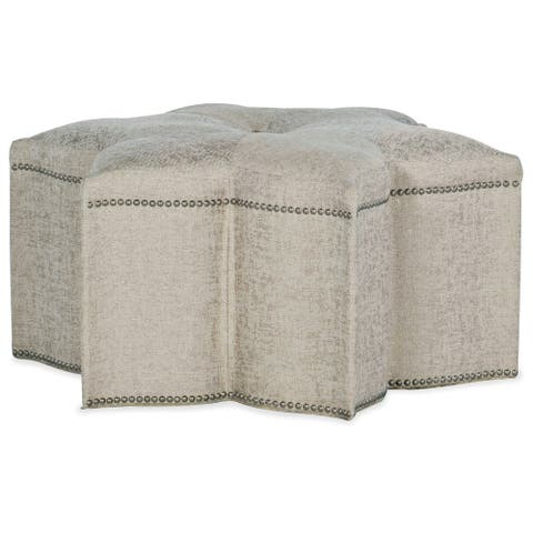 """Hooker Furniture 5875-52001-95 Star of the Show 35"""" Wide Floral Star - Sequins Pearl"""