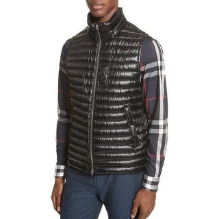 Burberry Men's Aldridge Black Quilted Puffer Vest