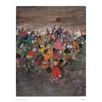 ''Un Seul Ballon'' by Graciela Rodo Boulanger Latino Art Print (33.625 x 26.875 in.)