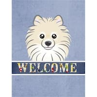 Carolines Treasures BB1393GF Pomeranian Welcome Flag Garden Size