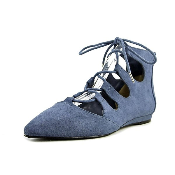 Bar III Lasso Women Pointed Toe Synthetic Blue Flats
