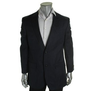 Sean John Mens Pinstripe Peak Collar Two-Button Suit Jacket - 40L
