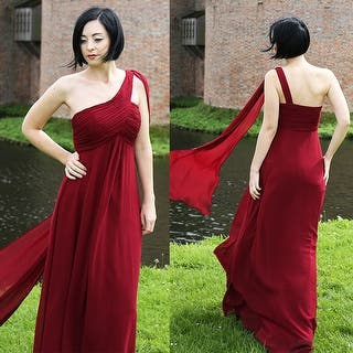 Buy Asymmetrical Neck Evening   Formal Dresses Online at Overstock ... 81b9bc9ef