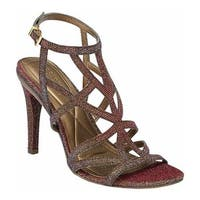Kenneth Cole Reaction Women's Smashing Strappy Sandal Gold Multi Fabric