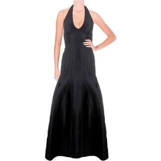 Halston Heritage Womens Evening Dress Halter Tulip Skirt - 0