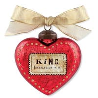 Lighthouse Christian Products 187943 King Glass Christmas Ornament