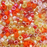 Miyuki Delica Seed Bead Mix Lot 11/0 Tango Tropical 7.2 Grams