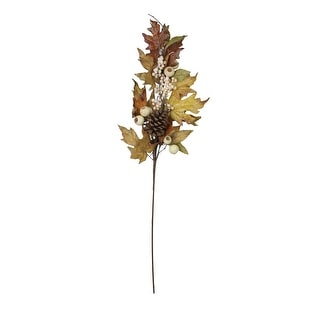 "30"" Autumn Thanksgiving Leaf and Berry Artificial Fall Spray - N/A"