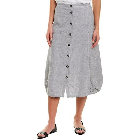 Xcvi Linen-Blend Midi Skirt