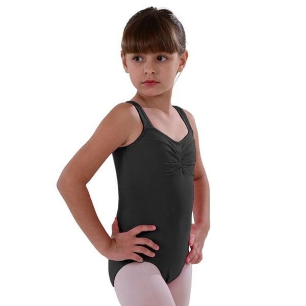 d4fe78c79 Shop So Danca Black Pinched Neckline Dance Leotard Little Girls 2-14 ...