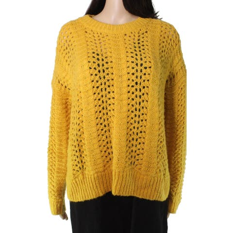 Madewell Womens Sweater Yellow Size Large L Windemere Pointelle Pullover