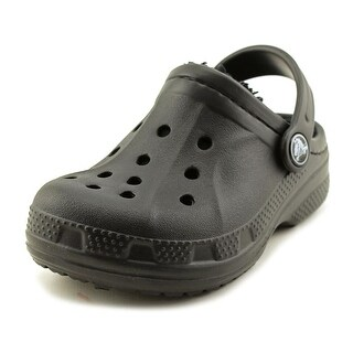 Crocs Winter Clog Toddler  Round Toe Synthetic Black Clogs