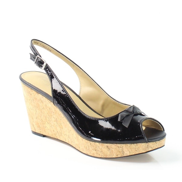 Trotters NEW Black Allie 8.5N Slingbacks Patent Leather Sandals